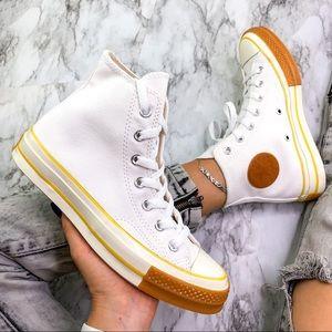 Converse Vulcan Mid White Dessert Cowboy Sneaker